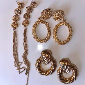 3pck costume jewelry earrings